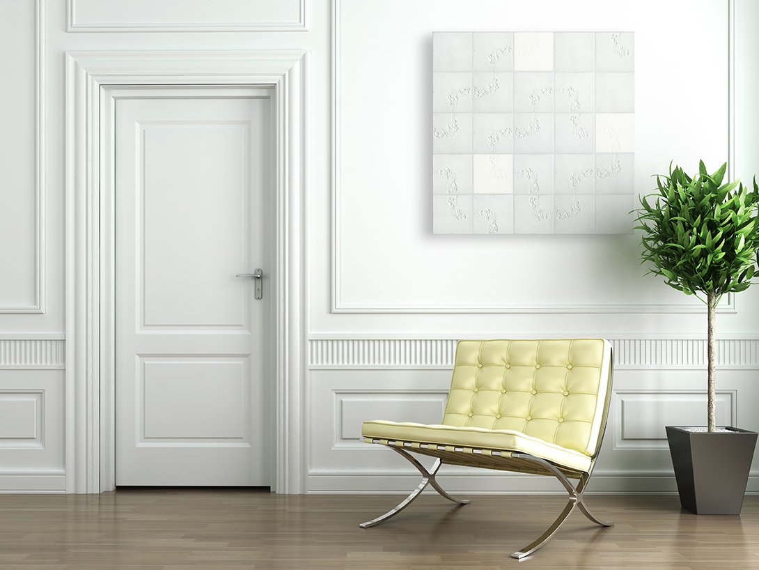 White Wall Paneling : Gallery of images tex tiles by studio barbara vos